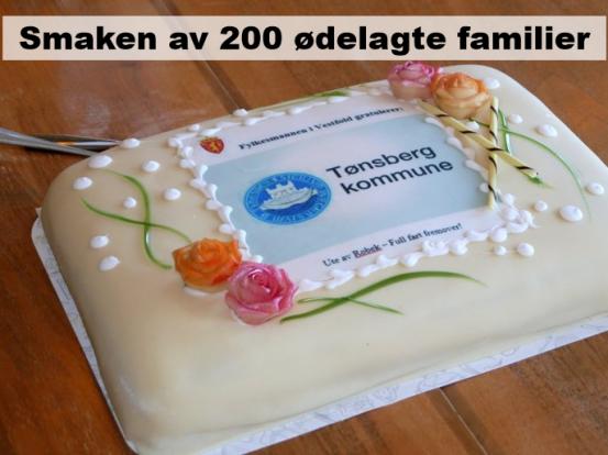 200 familier i en kake